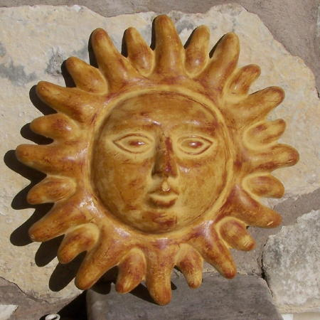 Pay Shell Credit Card >> Mexican Clay Pottery Sun Mask by Arpero